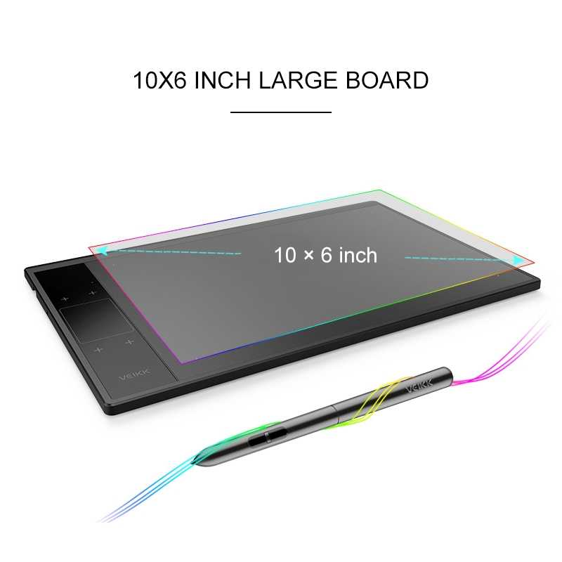 with Type-c Interface SHIFENX Portable A30 10x6 inch 5080 LPI Smart Touch Electronic Graphic Tablet
