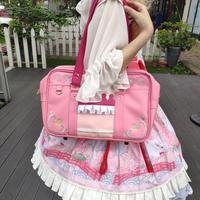 Pink & Blue Twin Star Princess Hight School Student JK Uniform Bag Handbag Japanese Lolita Embroidery Cosplay Shoulder Bag