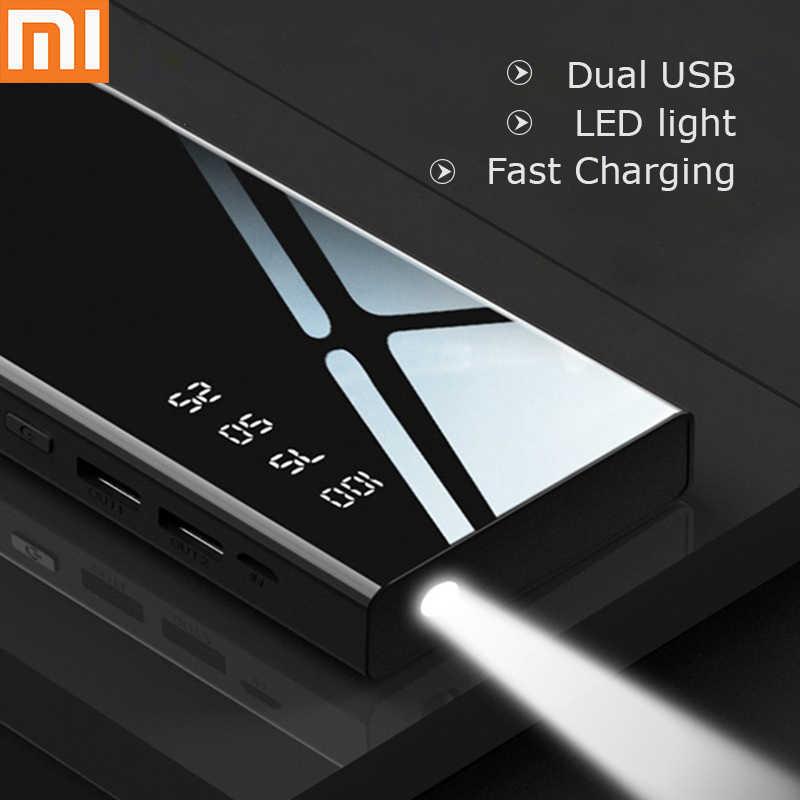 Przenośna ładowarka baterii do telefonu komórkowego 10000 mA power bank dwukierunkowe szybkie ładowanie lamp LED interfejs Apple/Micro USB
