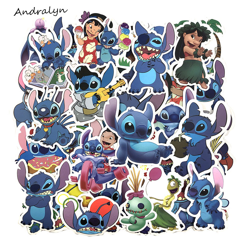 55Pcs/Set Lilo & Stitch Graffit Stickers For Skateboard Motorcycle Luggage Laptop Notebook Toy Cool Pegatinas(China)