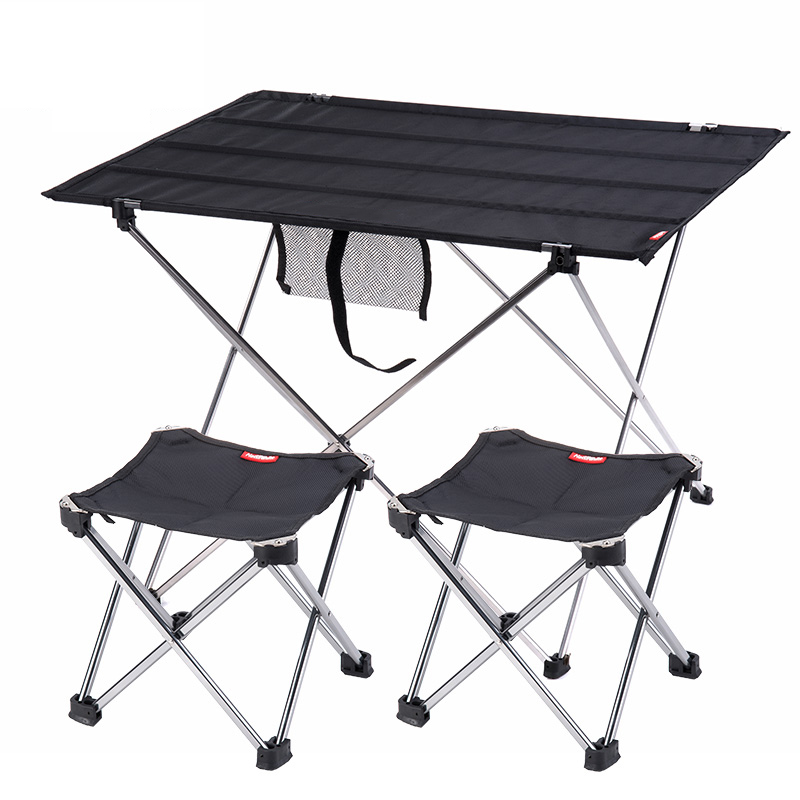 Aluminum Portable Roll Up Collapsible Lightweight Outdoor Folding Camping Table Patio Metal Foldable Picnic Table