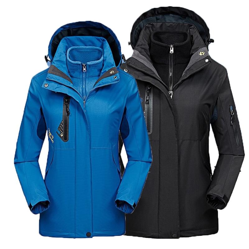 Mulher dos Homens Outono de Esqui Quente ao ar Snowboard à Prova 3 em 1 Inverno Jaquetas Caminhadas Trekking Acampamento Cabolsa Livre Doverágua Oversize