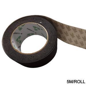 Image 2 - 5M/roll מתכלה רכב ויניל סרט לעטוף מגב 5cm הרגיש קצה שחור בד 3M מגב חילוף הרגיש לרכב גלישת מגרד A08 5M