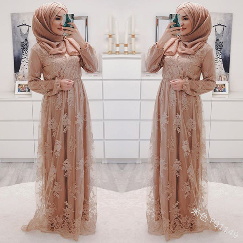 Women Abaya Turkey Arabic Lace Evening Hijab Muslim Dress Caftan Kaftan Morocco Robe Musulmane Islamic Clothing Vestidos Dresses