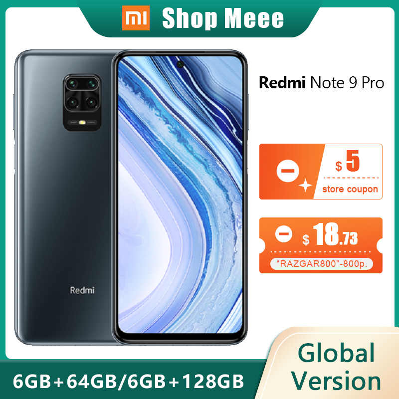 "Globale Version Xiaomi Redmi Hinweis 9 Pro 6GB 64/128GB NFC Smartphone Android Snapdragon 720G Mobile telefon 6.67 ""Handy 5020mAh"