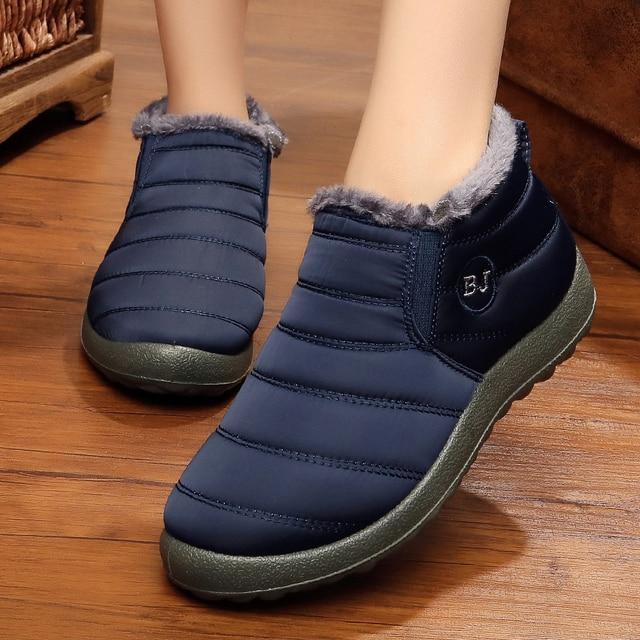 Men Boots Lightweight Winter Shoes For Men Snow Boots Waterproof Winter Footwear Plus Size 47 Slip On Unisex Ankle Winter Boots 4