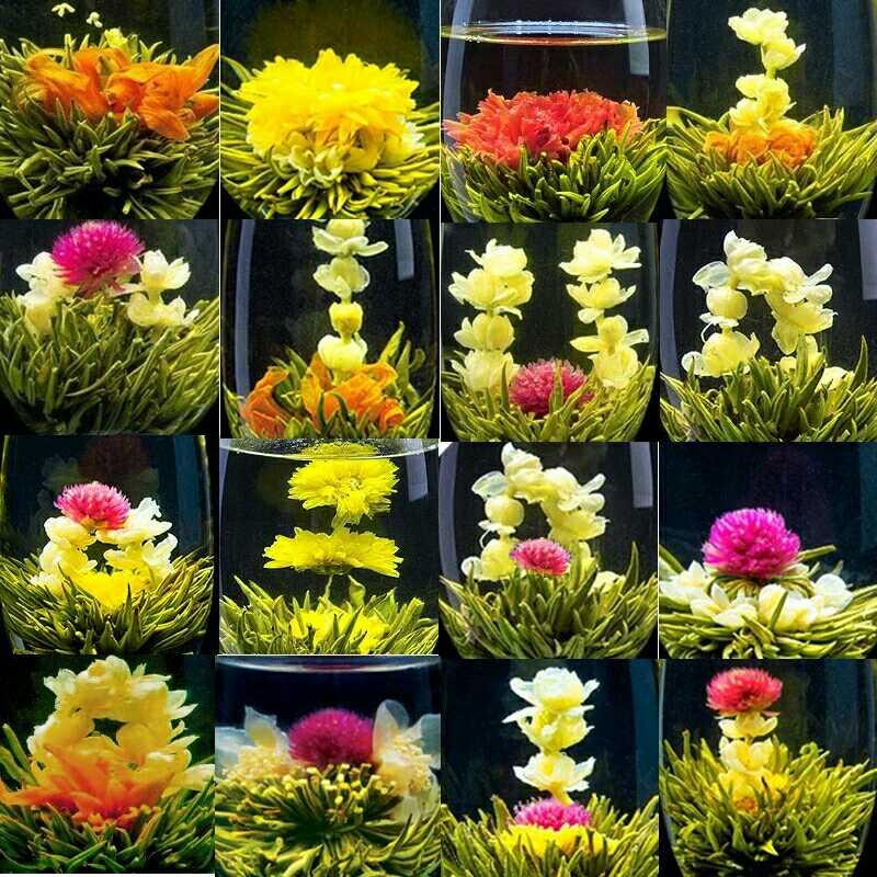 16 видов ручной работы чай Цветущие травы 140 г Китайский шар цветущие цветы травяной художественный чай для здоровья продукты чай|Заварники|   | АлиЭкспресс
