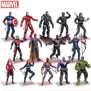 Disney superbohaterowie Avengers Thanos czarna pantera kapitan ameryka Thor Iron Man Spiderman Hulkbuster Hulk figurka 17cm tanie i dobre opinie Model CN (pochodzenie) BOYS Avengers Assemble 4 Wyroby gotowe Film i telewizja Gotowy żołnierzyk Black widow About 17cm high