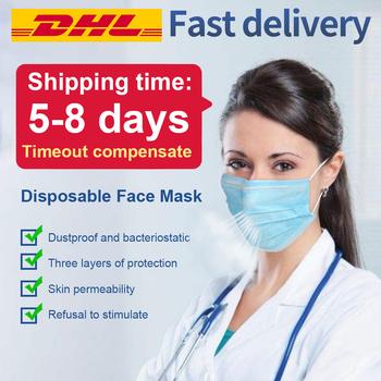 Maska jednorazowe maski na twarz 3-warstwy bezpiecznie usta maska 50 sztuk pm2 5 stosuje się do dla dorosłych filtr pyłowy masque tanie i dobre opinie Chin kontynentalnych Bakterie Dowód NONE Jeden raz 50pcs box Blue 3 Layers