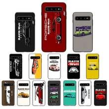 Japonya spor araba jdm sürüklenme RWB telefon kılıfı için samsung galaxy note 9 8 s10 s10e s9 s8 s20 artı e galaxy mat yumuşak tpu arka kapak