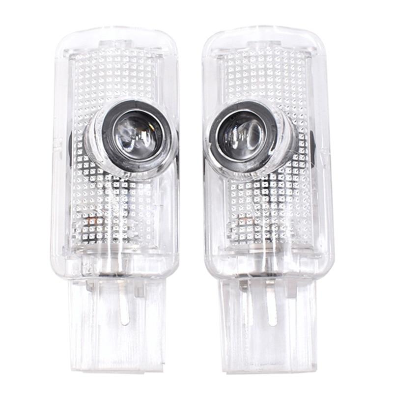 2PCS Car LED Door Warning Lamp Logo Projector Welcome Light For Mercedes Benz R Class W215 ML W164 GL X164 R300 R350 ML300 ML350