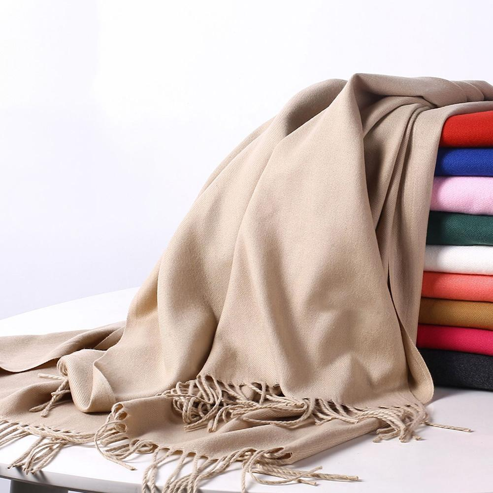 Winter Autumn Women Cashmere Tassel Scarf Casual Thin Long Warm Soft Wrap Shawl