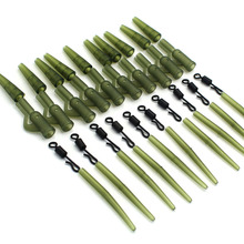 40PCS Carp Fishing Accessories Lead Clip Quick Change Swivel Tail Rubber Anti Tangle Sleeves for Carp Rigs Coarse Fishing Tackle