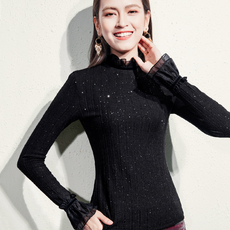 New Casual Ladies Fashion Explosions Beautiful Long-sleeved T-shirt