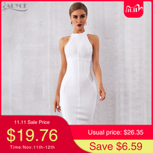 ADYCE 2020 New Summer White Women Bodycon Bandage Dress Elegant Tank Sexy Sleeveless Club Celebrity Evening Runway Party Dresses