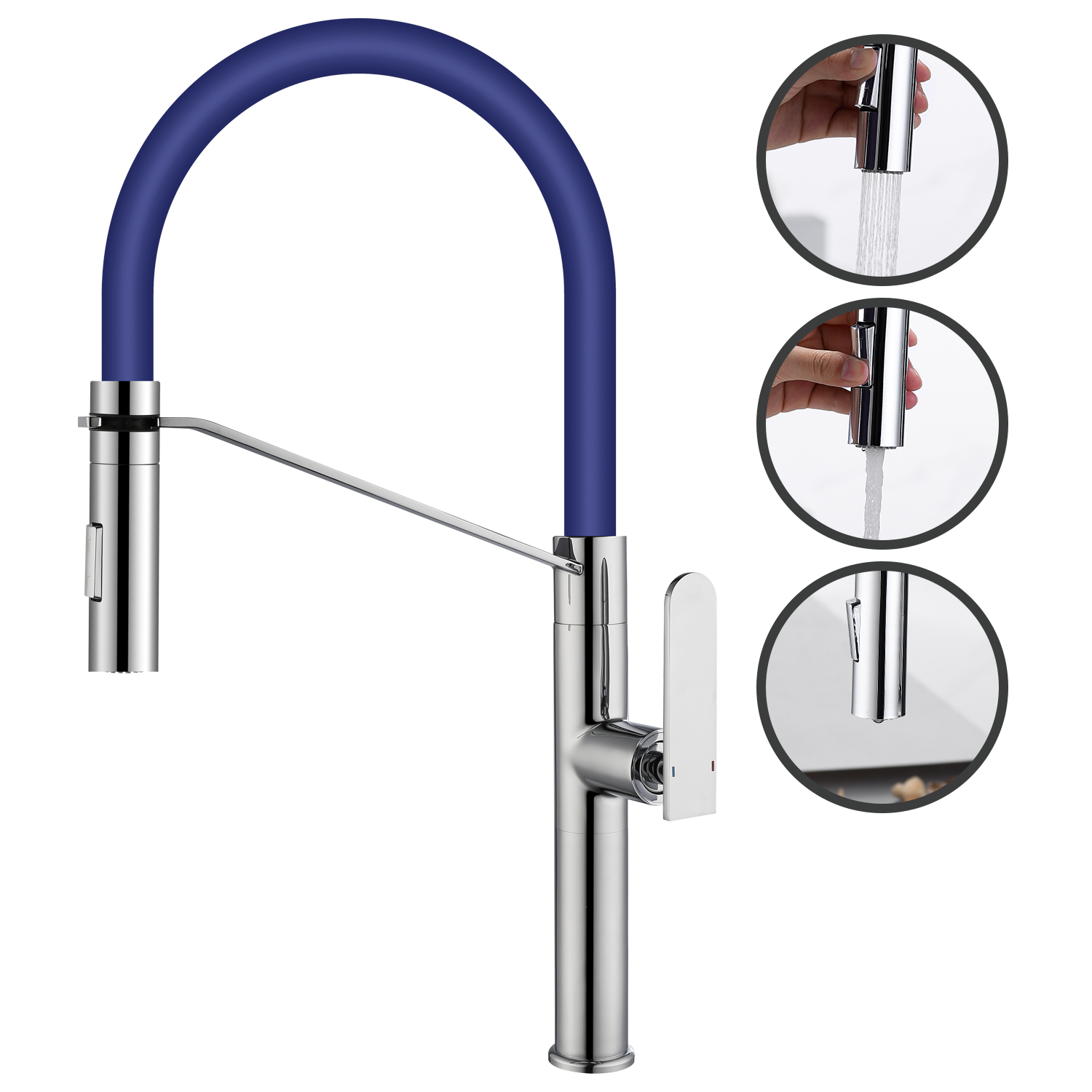 Kitchen Faucet 360 Degree Swivel Basin Faucet Single Lever Kitchen Water Tap Bathroom Sink Faucet Kitchen Mixer for Washbasin