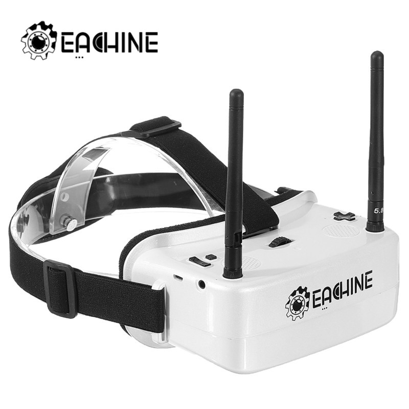 Eachine EW30 2 Inch PMMA FPV Goggles 5.8Ghz 48CH TFT LCD 480*360 *2 Display 60-68mm IPD Adjustable FOV 120° Goggles With DVR