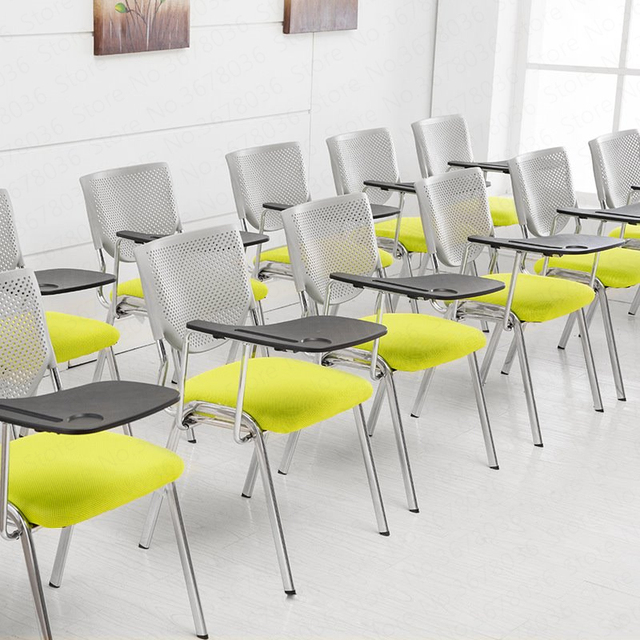 European Office Chair Training Chair With Writing Board Staff Chair Simple Student Table And Chairs Folding,W 1