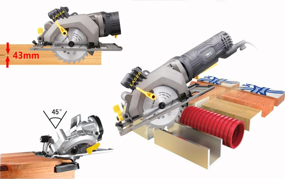 But Mini Ideal Powerful Aluminum Saw For Cut NEWONE Laser Small Plastic With Guide Circular 3500RPM Wood 600W And Tile Compact