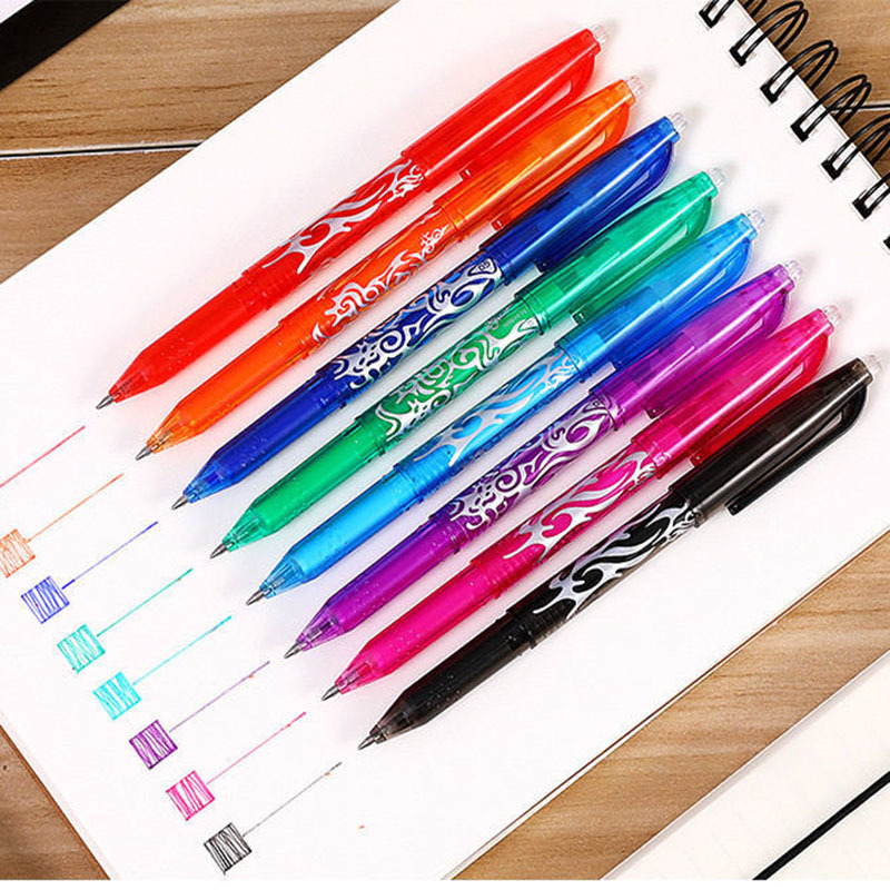 8 Colors Creative Erasable Pen Writing Student Magic Gel Pens Canetas Creative Office School Stationary Supplies 040199