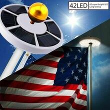 Ночной наружный светильник 42 светодиодный солнечный флагшток огни водонепроницаемый флагшток лампа