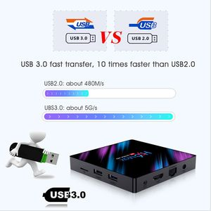 Image 4 - สมาร์ททีวีกล่องAndroid 9.0 RK3318 Quad Core 4K 5G WiFi 2GB 16GB 4GB 32GB 64GB H.265 Media Player 3DวิดีโอTVBOX 2021ชุดกล่องด้านบน