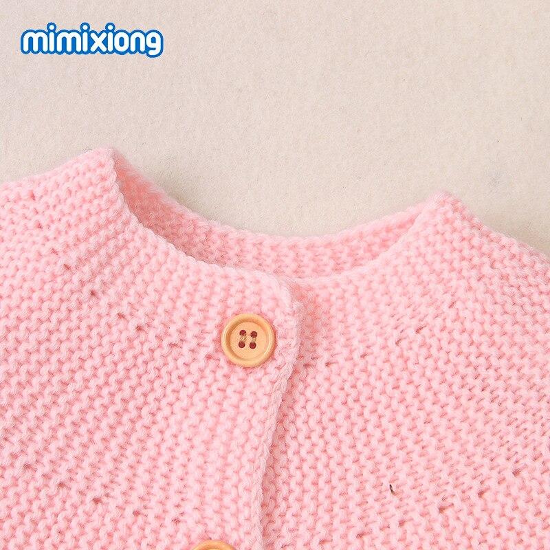 0-2years niemowlę jednokolorowe dzianinowe swetry dziewczynek Boys Baby ciepły kardigan jesień zima maluch stroje KF451