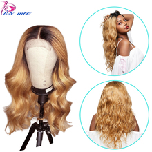 Kissmee 13*4 Ombre Blonde Lace Front Body Wave Wig T1B 27 Ombre Human Hair Wig For Black Women Remy Brazilian Lace Closure Wig стоимость