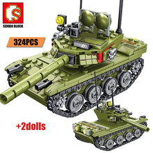 SEMBO City Police WW2 Technic Weapon Building Blocks Military Tank Truck Helicopter Soldier Figures Bricks Gifts Toys For Boys(China)