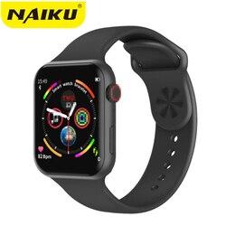 Relógio inteligente f10 tela de toque completa freqüência cardíaca pressão arterial esportes rastreador fitness para ios android pk iwo 8 9 10 w34