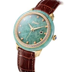Image 1 - ผู้ชายคลาสสิกหยกนาฬิกาธรรมชาติบริสุทธิ์วัสดุผู้ชายนาฬิกากันน้ำ Relogio Masculino Montre Homme นาฬิกาข้อมือชาย