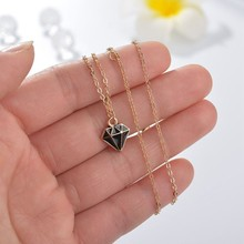 Womens Necklace Trendy Pendants&Necklaces For Girls Geometric Shape Stone Gold Chain Necklace Handmade Jewelry Birthday Gift chenfan trendy womens necklace fashion necklace female jewelry wholesale gold stone statement necklaces pendants jewelry chain