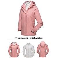 실외 스포츠 여성용 3-in-1 스키 자켓 겨울 자켓 세트 양털 라이너 자켓 및 후드 방수 쉘-여성용 남성용