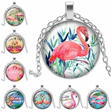 2019 New Pink Red-crowned Crane Series Handmade Art Pendant Necklace Love Life Warm 3 Color Can Be Customized