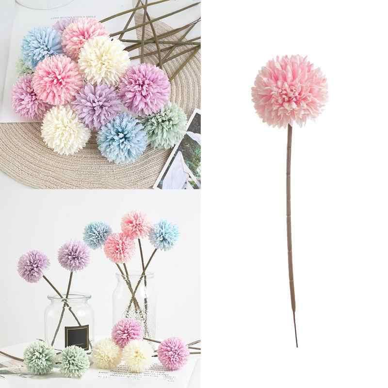 1 adet yapay sahte çiçekler romantik çiçek düğün buket parti ortanca dekor takım elbise için parti sanat galerisi ofis mağazalar