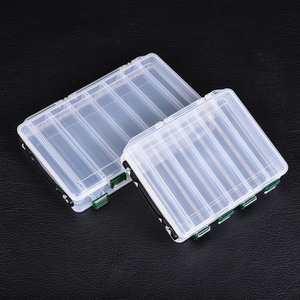 Fishing Box Accessories Tackle Lures Bait Storage Case Shrimp Boxes for Fishing Tackle Baits 10/14 Compartments Lure Box|Fishing Tackle Boxes| |  -