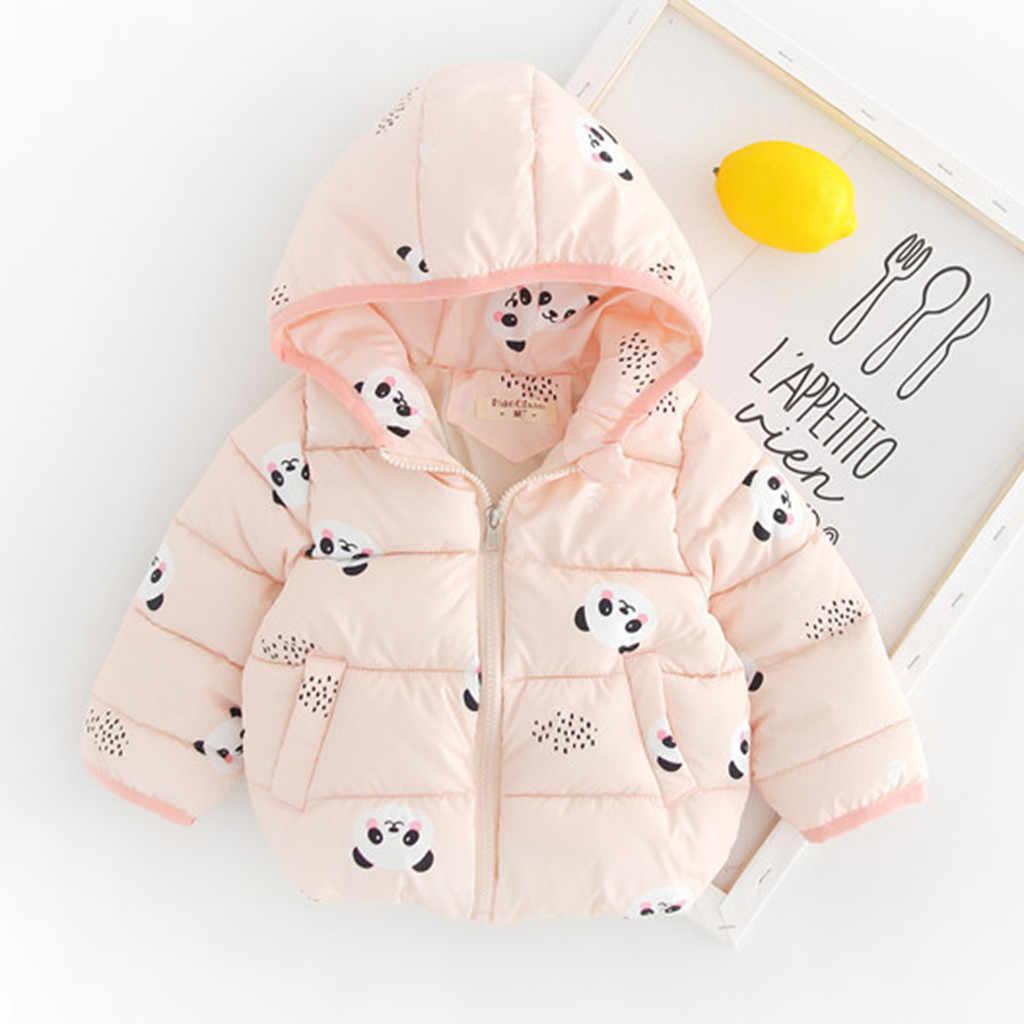 winter Cartoon baby coat newborn infant Jackets Cute Cartoon Print  Zip warm Thick Snowsuit lovely Hooded Outwear пальто детское