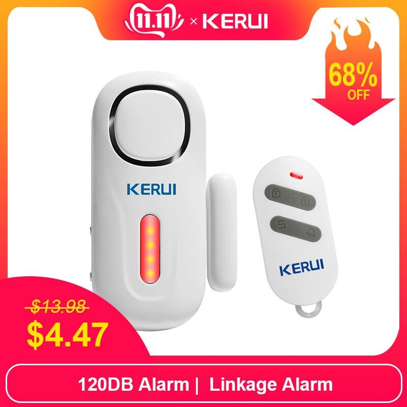 Kerui sem fio da porta/janela de entrada segurança do assaltante sensor alarme pir porta sistema alarme magnético segurança com controle remoto