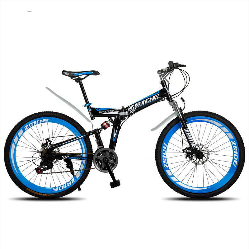 Mountain Bike 24 Inch 21/24/27/30 Speed Folding Mountain Bicycle Double Disc Brake 2019 New Suitable For Adults