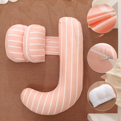 Stripe Maternity Pillow Waist Abdominal Support Side Sleep Pillow Pregnancy Side Sleeping U-Shaped Pregnant Pillow Body Cushion