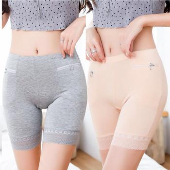 Damskie majtki damskie majtki kieszonkowe spodenki zabezpieczające damskie majtki damskie majtki Plus Size tanie i dobre opinie Bawełna mieszanki CN (pochodzenie) Bezpieczeństwo Krótkie Spodnie WOMEN