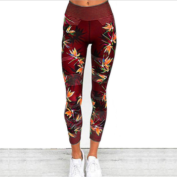 Women Quick Dry Sport Fitness Leggins Geometric Printed Sports Pants Yoga Pants Leggings Slim Tights Trousers For Women S-XXXL 13