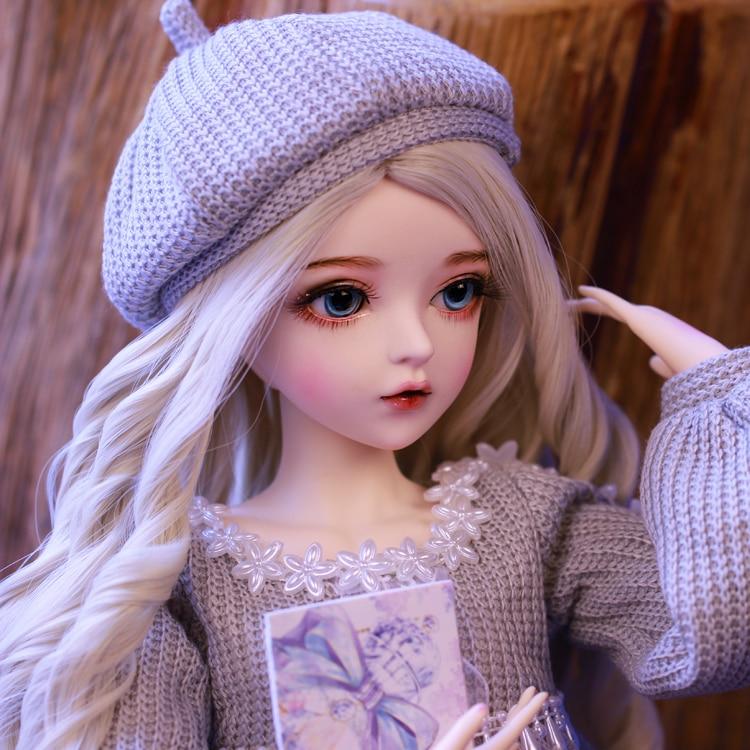 Шарнирная кукла 60 см, подарки для девочки, кукла с серебряными волосами и одеждой, кукла NEMEE со сменными глазами, лучший подарок на день Святого Валентина, ручная работа 1