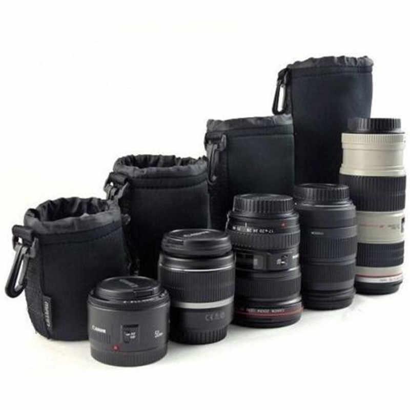 1 個カメラレンズポーチバッグネオプレン防水ソフトビデオカメラレンズポーチバッグケースフルサイズ SML XL カメラレンズプロテクター