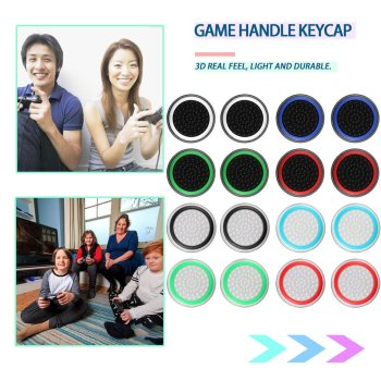 цена на 2 pcs Silicone Analog Thumb Stick Grips Cover for Playstation 4 PS4 Pro Slim PS3 Gamepad Thumbstick Caps  Xbox 360 One Stick Cap