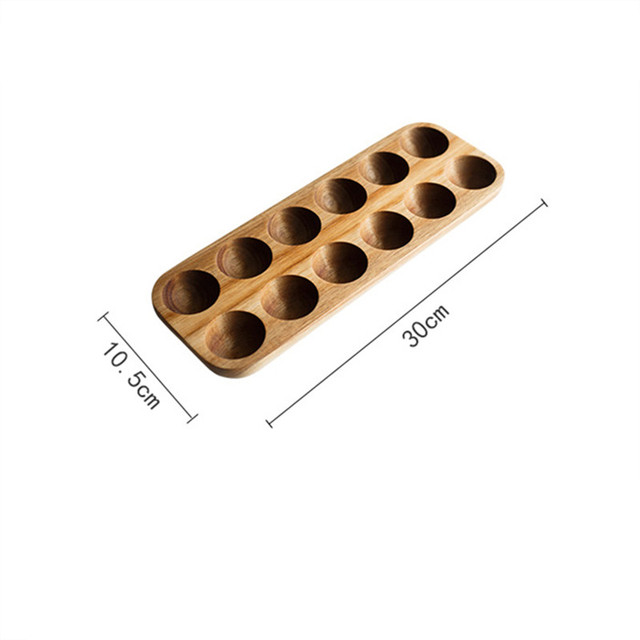 Multi-grid Egg Wood Tray Refrigerator Crisper Container Home Kitchen Desktop Exquisite Decorative Storage Trays Trinket Dishes 6