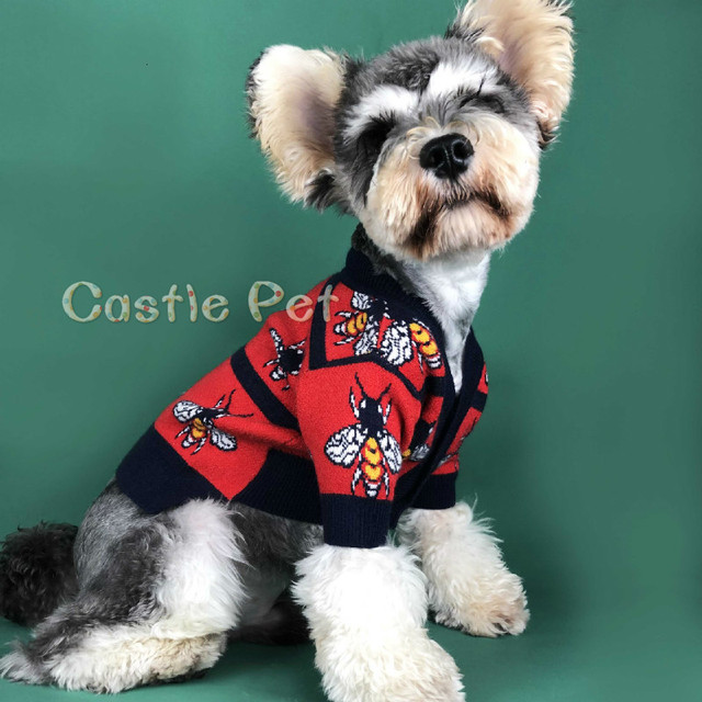 Autumn Puppy Sweater Cardigan,Dog Knit Sweater Classic Design,For Small Medium Dogs Poodle Terrier Pets Clothes Woolen Sweater