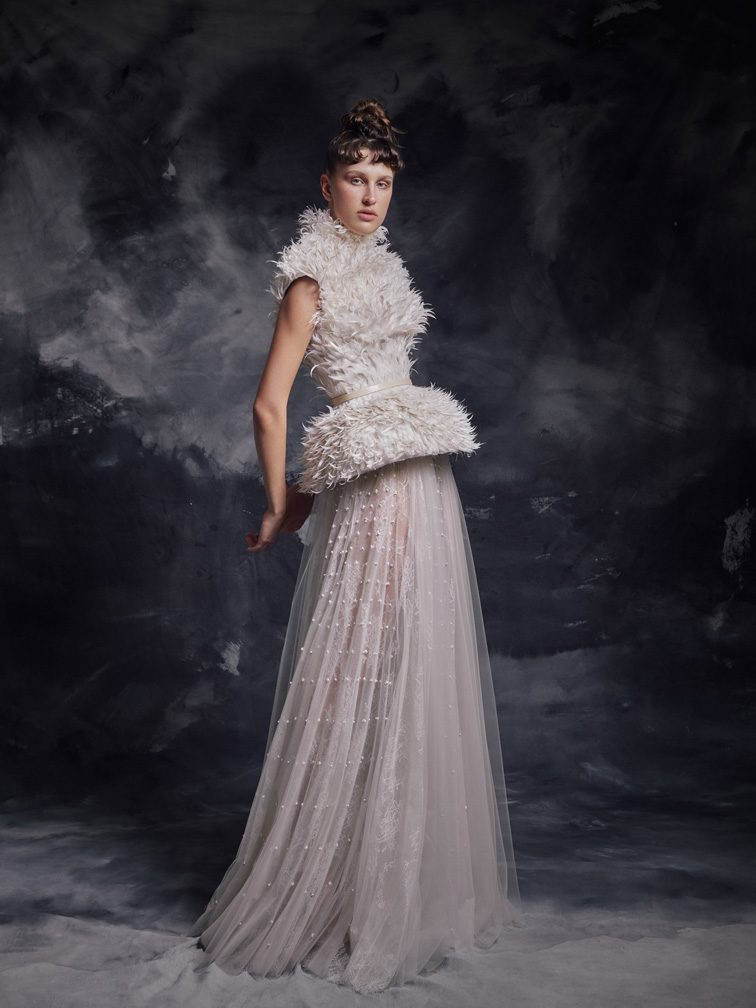 2020  Luxury Feather Jacket Prom Gowns A-Line Stand Collar Sleeveless Beaded Lace Ruffles Cloth Party Dresses Evening Dresses