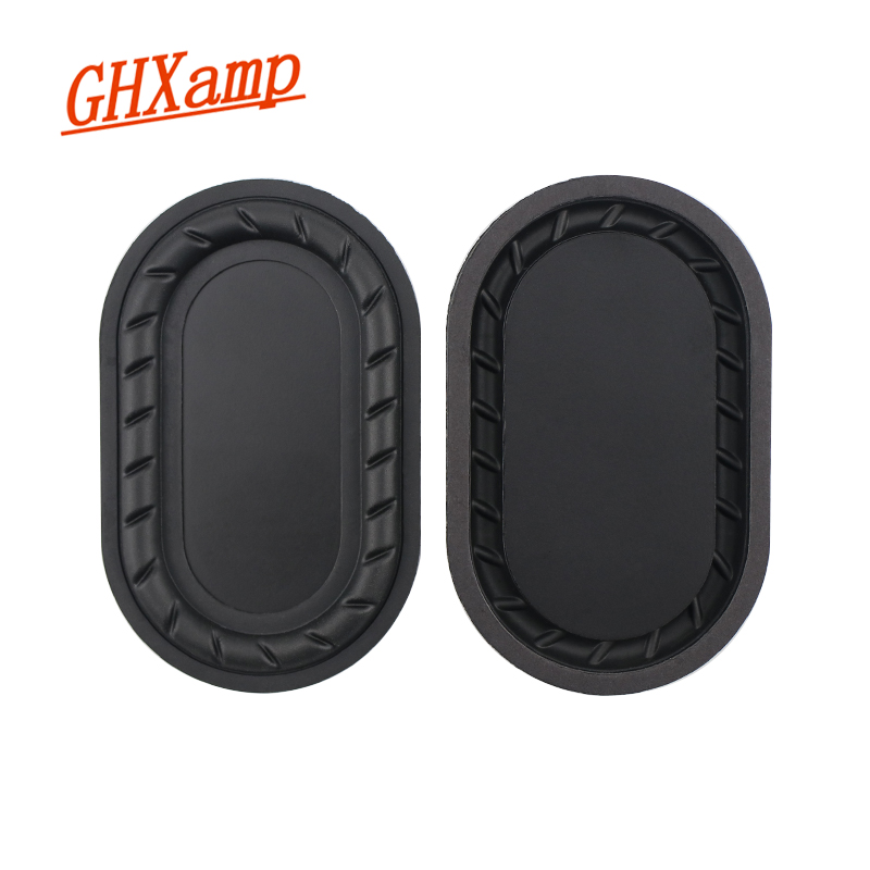 GHXAMP 87*54mm Bass Auxiliary Radiator Low Frequency Bass Passive Speaker Rubber Edge 1Pairs