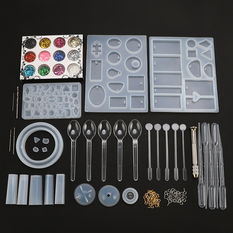 83Pcs/Set DIY Resin Mold Casting Silicone  Mold For Resin Jewelry Making Tools Epoxy Resin Molds эпоксидная смола